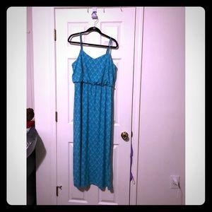Summer simple maxi dress L EUC
